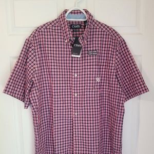 Chaps Button Down NWT LT Multicolored Check